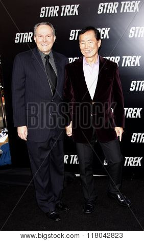 George Takei and Brad Altman at the Los Angeles Premiere of