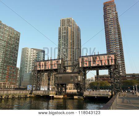 Wharf Crane At Long Island