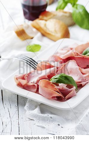 Italian Antipasto With Mortadella Of Bologna