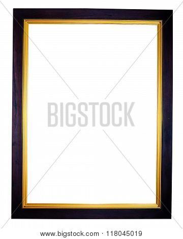 vintage photo frame isolate on white background