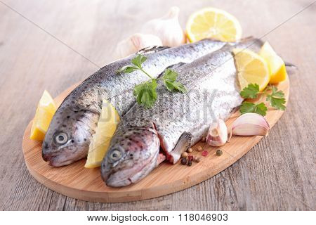 fish and lemon on board