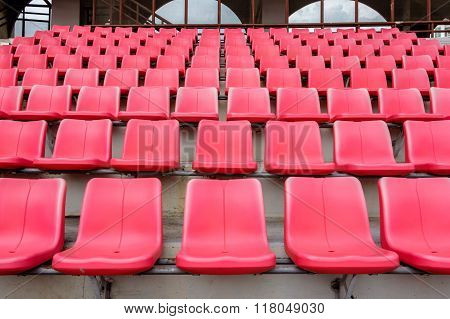 Red Seats In Football Stadium
