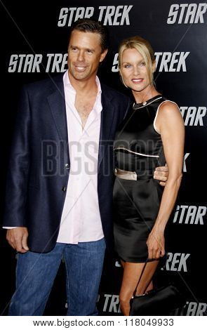Nicollette Sheridan and Steve Pate at the Los Angeles Premiere of