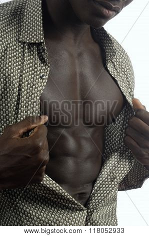 Man Showing His Abs