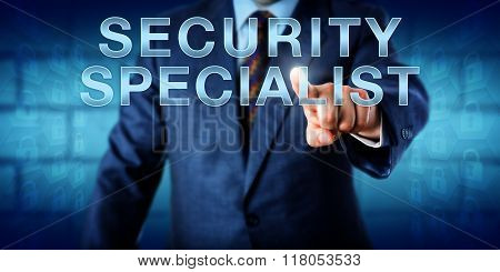 Corporate Manager Touching Security Specialist