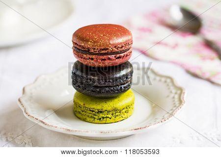 Colourful Macarons