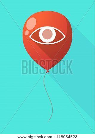 Long Shadow Balloon With An Eye