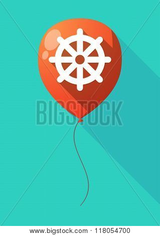 Long Shadow Balloon With A Dharma Chakra Sign