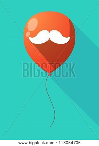 Long Shadow Balloon With A Moustache