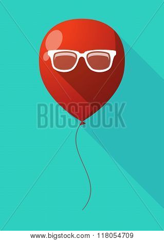 Long Shadow Balloon With A Glasses
