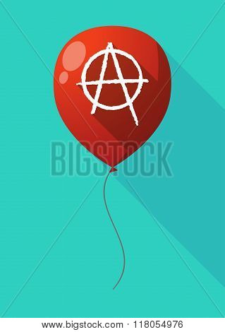 Long Shadow Balloon With An Anarchy Sign