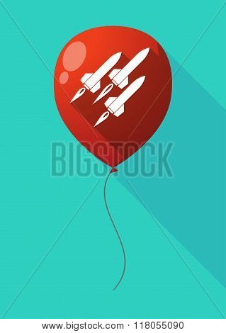 Long Shadow Balloon With Missiles