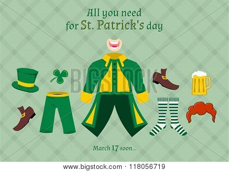 All You Need For St. Patrick's Day, Vector Illustration