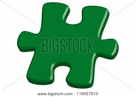 Green 3D Jigsaw Puzzle