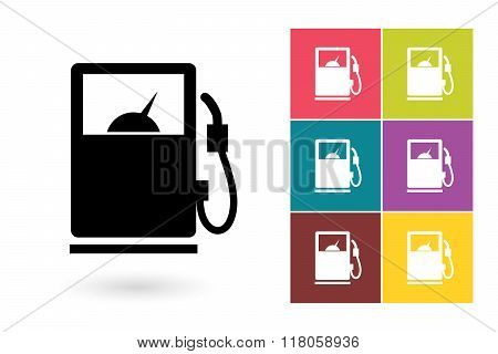 Gas pump vector icon