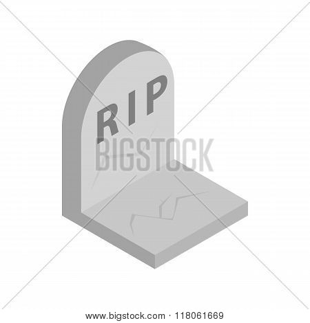 Tombstone with RIP icon