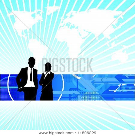 Business People World Background