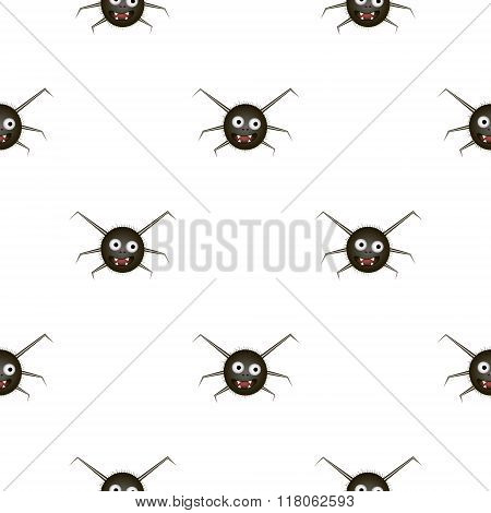 Seamless Pattern With Funny Spider