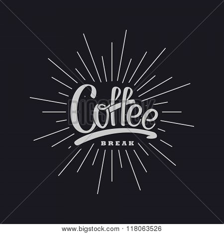 Coffee. Vector Lettering Illustration