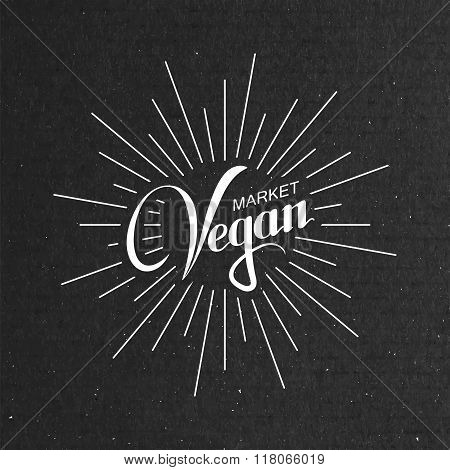 Vegan Market Sign.