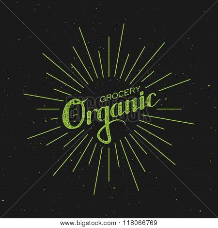 Organic Grocery Sign.
