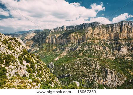 Beautiful view of the Verdon Gorge in south-eastern France