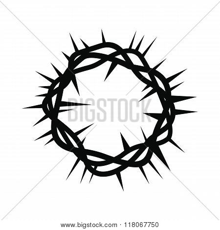 Crown of thorns black simple icon