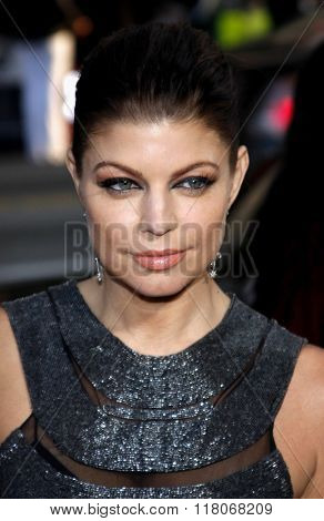 Fergie of Black Eyed Peas at the Los Angeles Premiere of