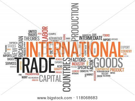 Word Cloud International Trade