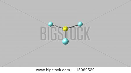 Chlorine trifluoride is an interhalogen compound with the formula ClF3. It is colourless poisonous corrosive and extremely reactive gas- 3D