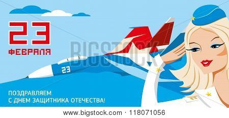 23 february is airplane russian army day