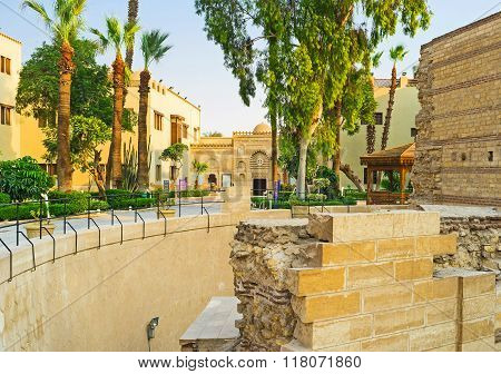 The Ancient Ruins In Coptic Quarter