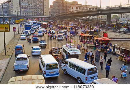 The Spontaneous Traffic In Cairo