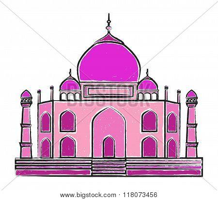 The Taj Mahal vector illustration