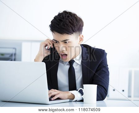 Businessman Having Stress And Surprised In The Office