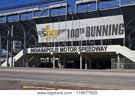 Indianapolis - Circa February 2016: Indianapolis Motor Speedway I