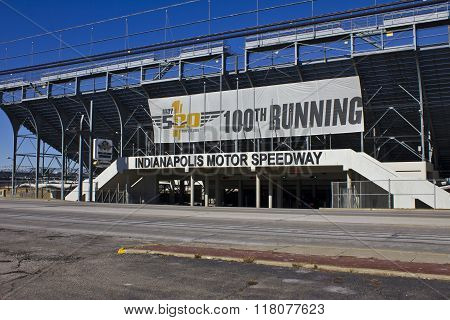 Indianapolis - Circa February 2016: Indianapolis Motor Speedway II
