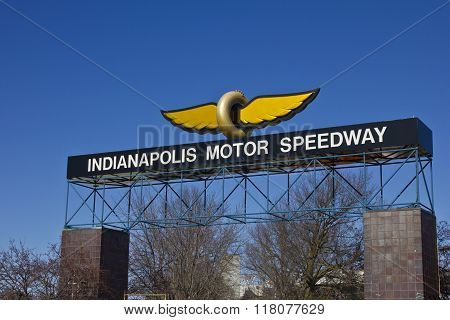 Indianapolis - Circa February 2016: Indianapolis Motor Speedway III