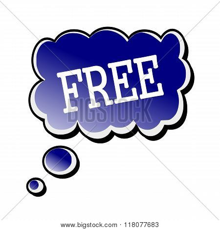 Free White Stamp Text On Blueblack Speech Bubble