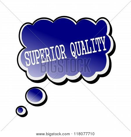 Superior Quality White Stamp Text On Blueblack Speech Bubble