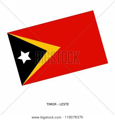 National Flag Of Timor - Leste