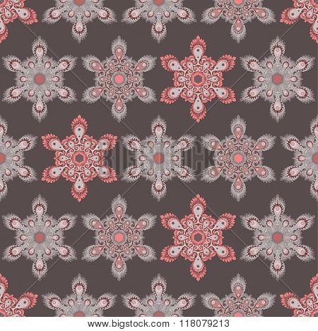 Hexagon mandala seamless pattern