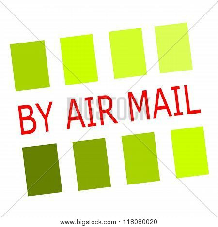 By Air Mail Red Stamp Text On White