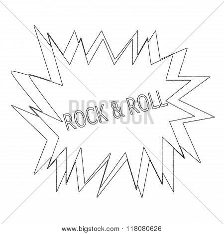 Rock And Roll Monochrome Stamp Text On White Blast