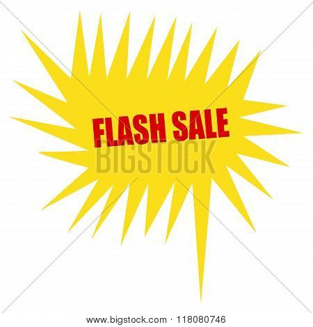 Flash Sale Red Stamp Text On Yellow Speech Bubble