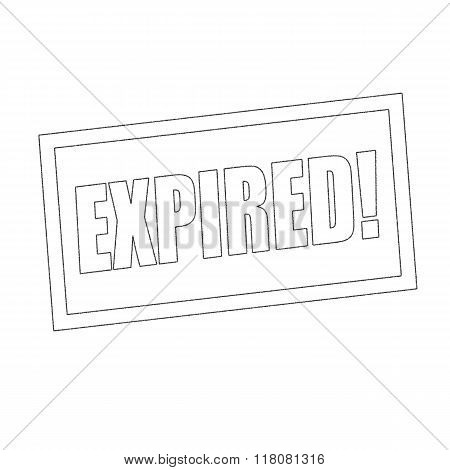 Expired Monochrome Stamp Text On White