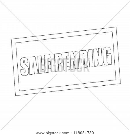 Sale Pending Monochrome Stamp Text On White