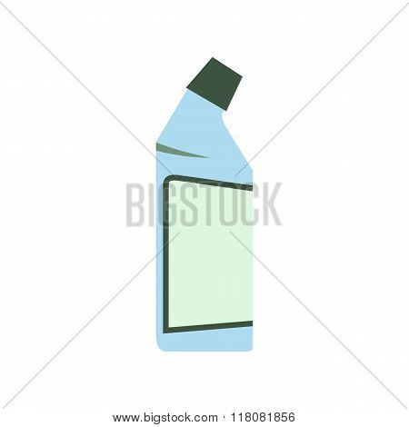 Container of drain cleaner flat