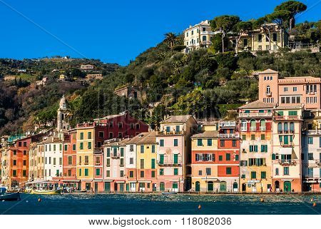 The Waterfront Of Portofino With Its Typical Colored Houses