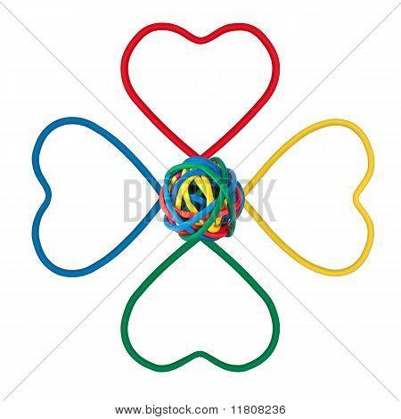 It Flower Shape, Colored Cables